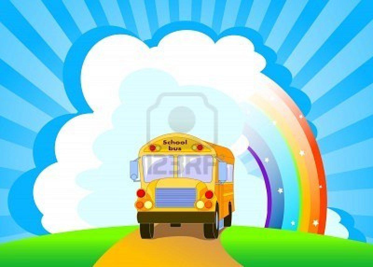7303739 back to school yellow school bus background curiosa idade