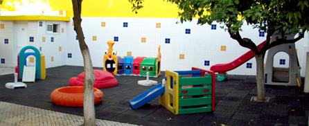 Zona de recreio do jardim de infância