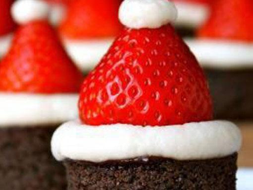 Brownies de chocolate natalícios