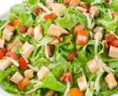 salada de frango e abacaxi